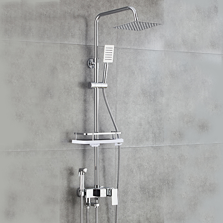 Chrome Wall Mounted Rainfall Shower Faucet Combo Hand Shower Concealed System Set Buy Rainfall Shower Faucet Set Chrome Shower Set Hand Shower Set
