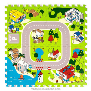 Meitoku 2014 hot sell toy traffic road game eva puzzle mat for kid play