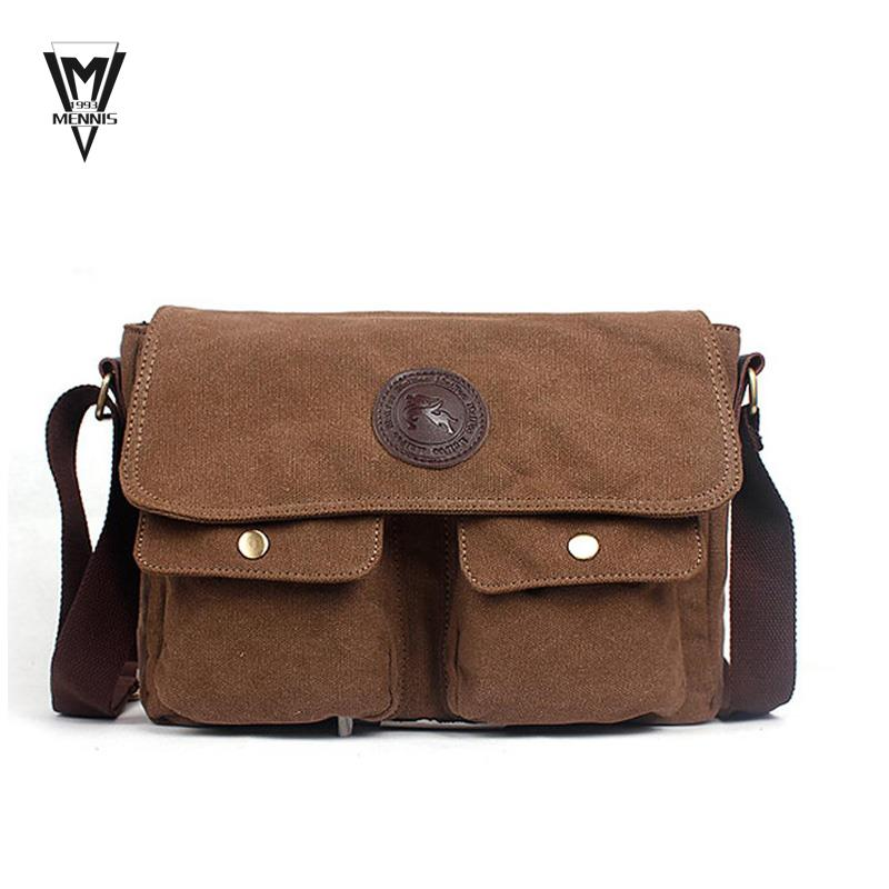 7cf2d753ecc6 Get Quotations · Designer Brand Mans casual Vintage Canvas Leather bags  Mens Crossbody Bag Shoulder Messenger Bag Briefcase free