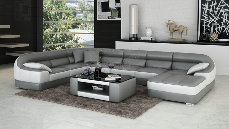 Fashionable round shape modern new design corner sofa for Latest design of sofa set for drawing room