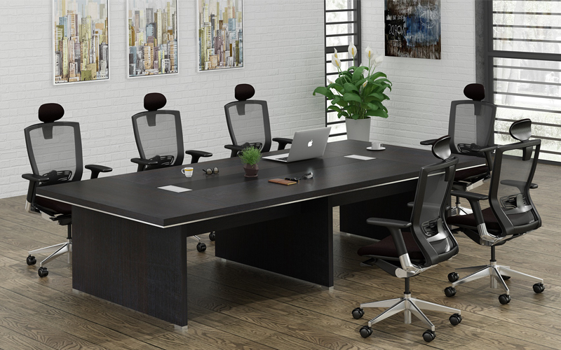 Latest design office meeting room desk and chairs combination power outlet  specifications for conference table, View conference table , chuangfan ...
