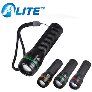 Promotional Zoom Flash Light Aluminum 1W 100LM Branded LED Torch
