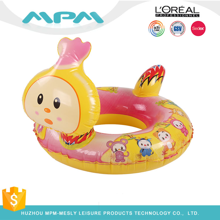Baby PVC Horse Inflatable Swim Ring With Seat & Canopy