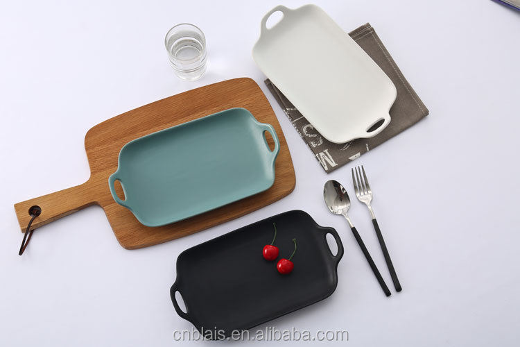 wholesale asian dinner plates 11.5\  porcelain rectangle colored ceramic taco plates & Wholesale Asian Dinner Plates 11.5\