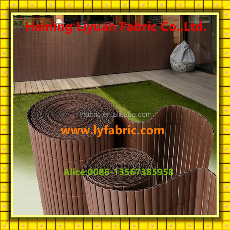 Plastic Bamboo Fence with REACH Certificate