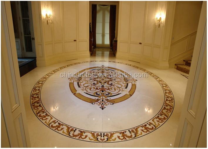 Inlaid Marble Floor Design : Pattern marble waterjet hall flooring inlay