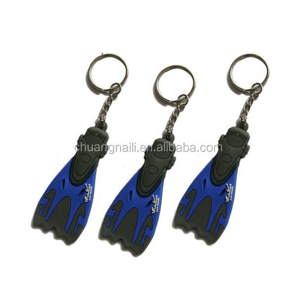 Die casting 3d dragon high quality rubber pvc key ring