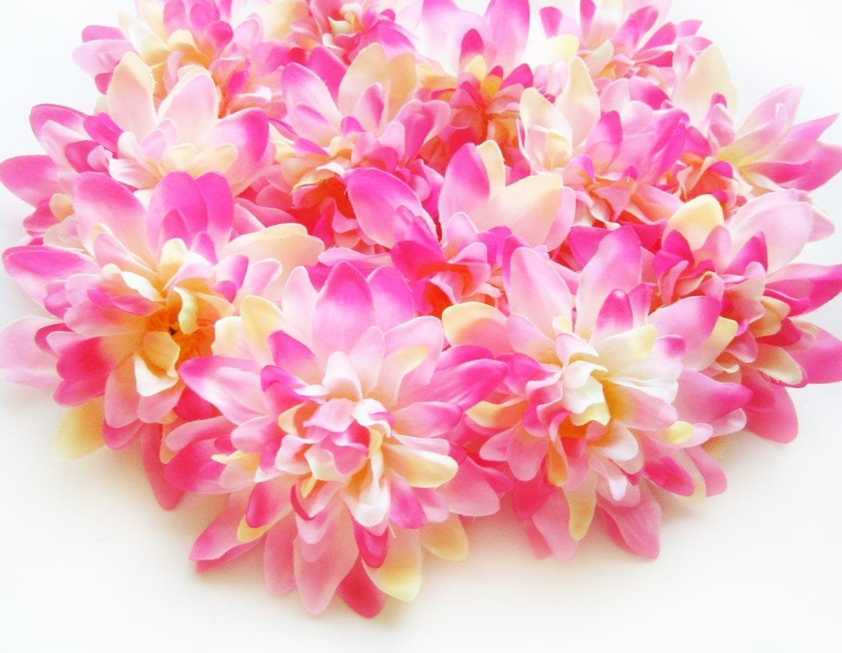Cheap wholesale dahlia flowers find wholesale dahlia flowers deals get quotations 12 pink silk dahlia flower heads 4 artificial flowers dahlias head izmirmasajfo