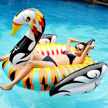 custom pool float Inflatable water pool toys mix color gold swan , 190cm pvc inflatable giant swan