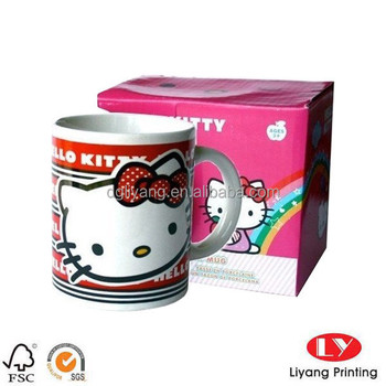 Colorful Coffee Mug Packaging Gift Box With Your Own Design