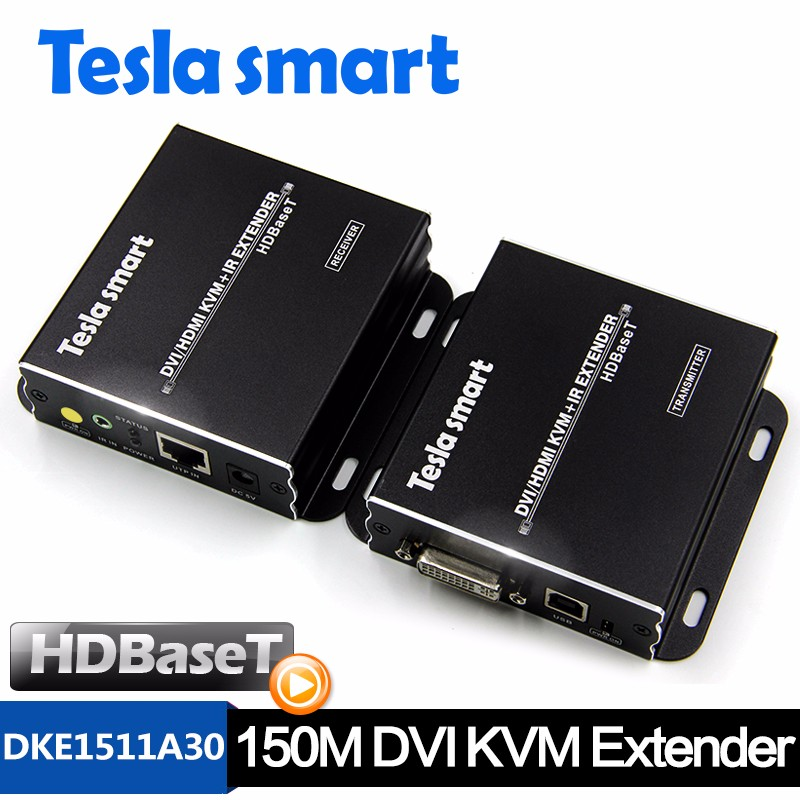 Factory Directly DVI / DHMI Dual View KVM Extender over Cat5e 70m HDBaseT 720p