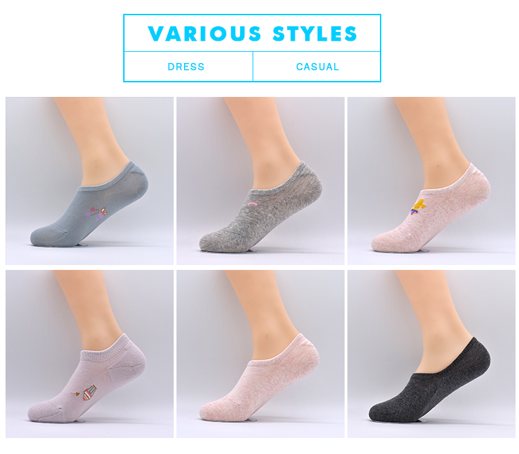Summer Wholesale Women Cotton Cute Comfortable No Show Dress Liner Lady Short Invisible Socks