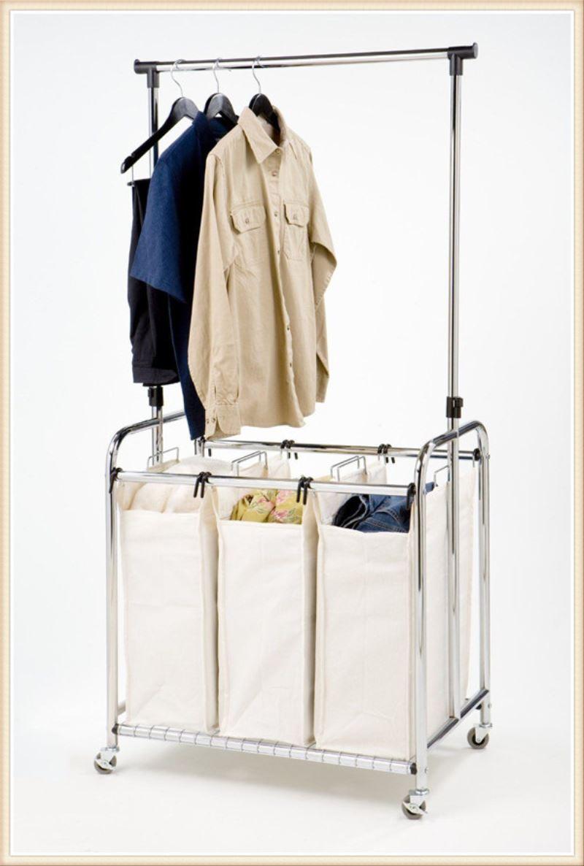laundry clothes bag sorter hamper storage laundry cart ironing