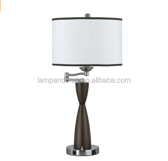 Rosalind Elegant Table Lamp For Hotel Guestroom With