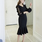 Pretty steps High quality han edition temperament elegant lace maxi dress