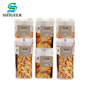 Best Selling Custom 6 Pcs Set Airtight Plastic Food Storage Container