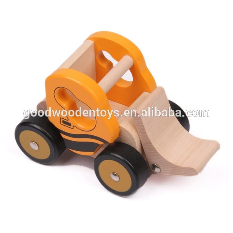bloque educativo de la cesta juguetes para nios de madera pista miniatura loader camin