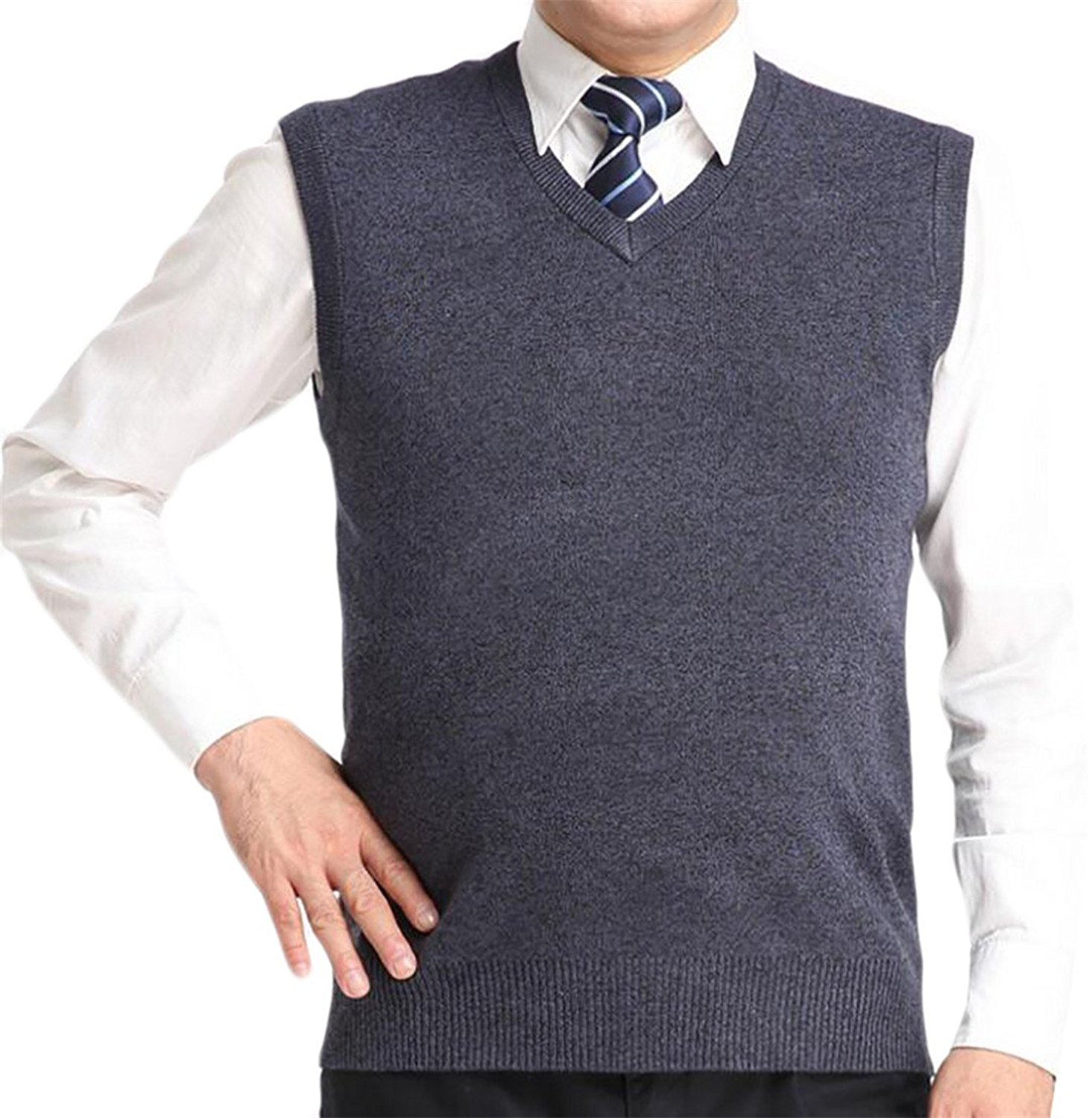 85d870c29 Get Quotations · Be Loved Beloved Mens Fashion Casual Slim Fit Soft Solid  Color Pullover Cable Sweater Vest