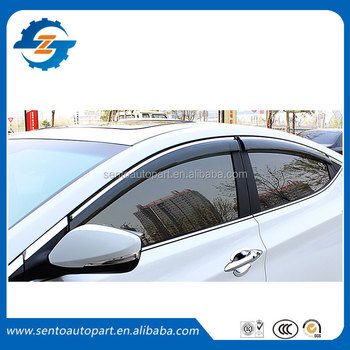 4 Pcs Window Visor/vent Shade/rain Sun Wind Deflector Fit For ...