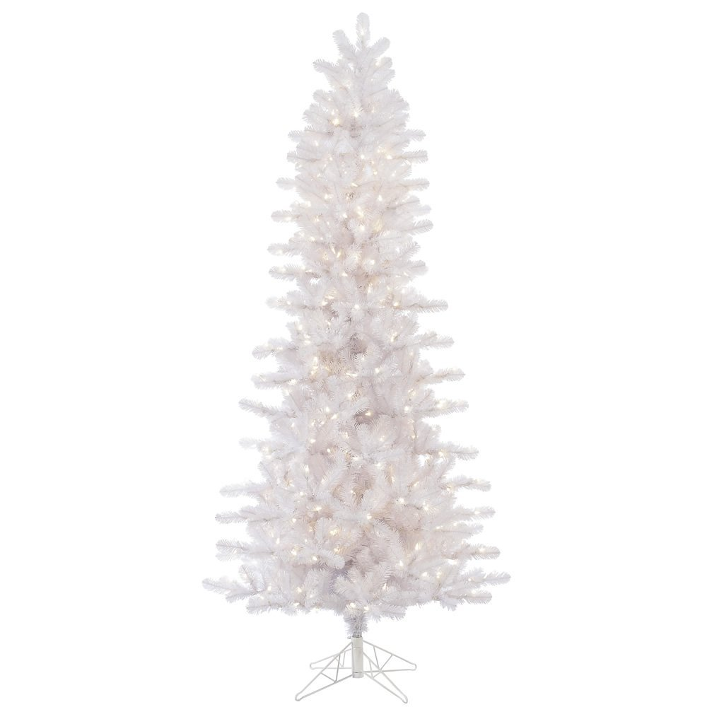get quotations vickerman crystal white slim artificial christmas tree with 650 warm white led lights 85