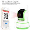 QR Code Scan IP Camera Home Security Motion Detection HD WIFI Wireless Webcam