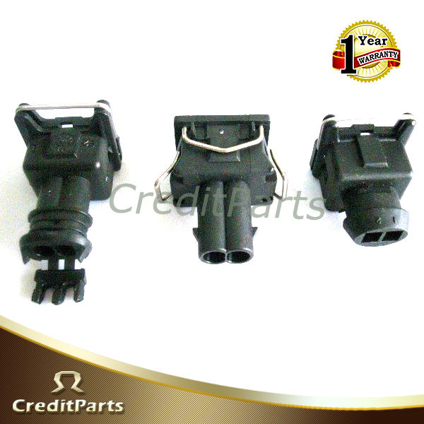 Auto Connector EV1 2Ways Fuel Injector Connector Waterproof for Fiat VW RENAULT