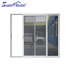 aluminum extrusion heat preservation sliding door with tempered glass for warehouse