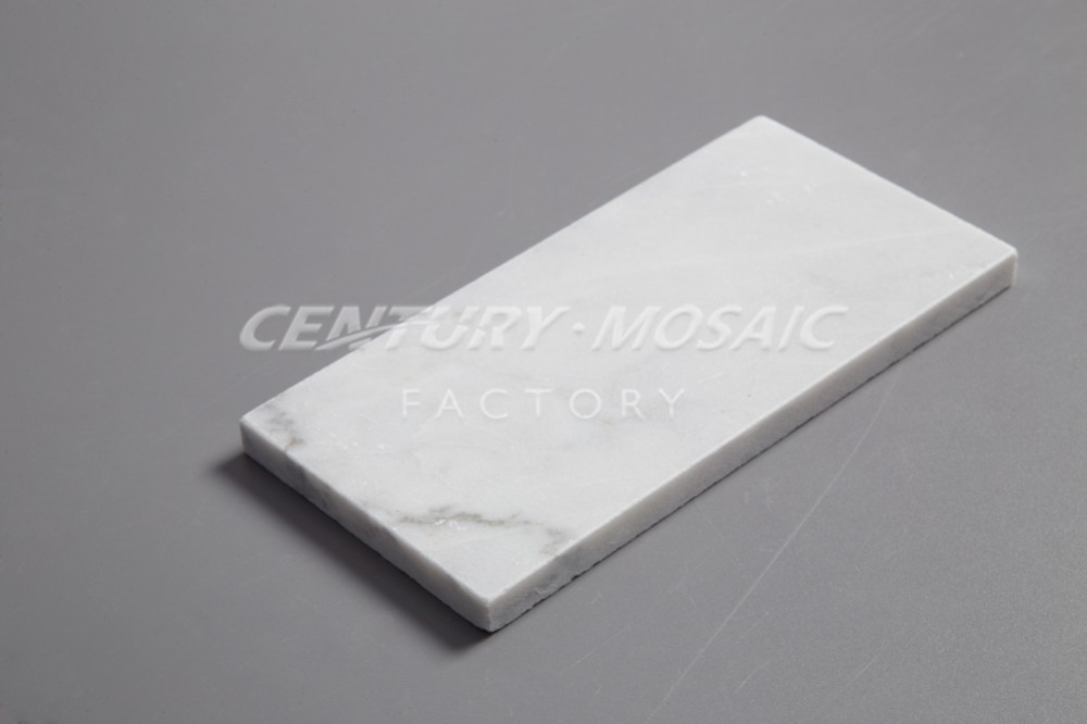 new material 3''x6'' pisa white marble brick wall tile