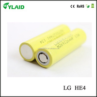 top quality vertice smart phone battery LG he2 18650 2500mah pack 3.7v battery
