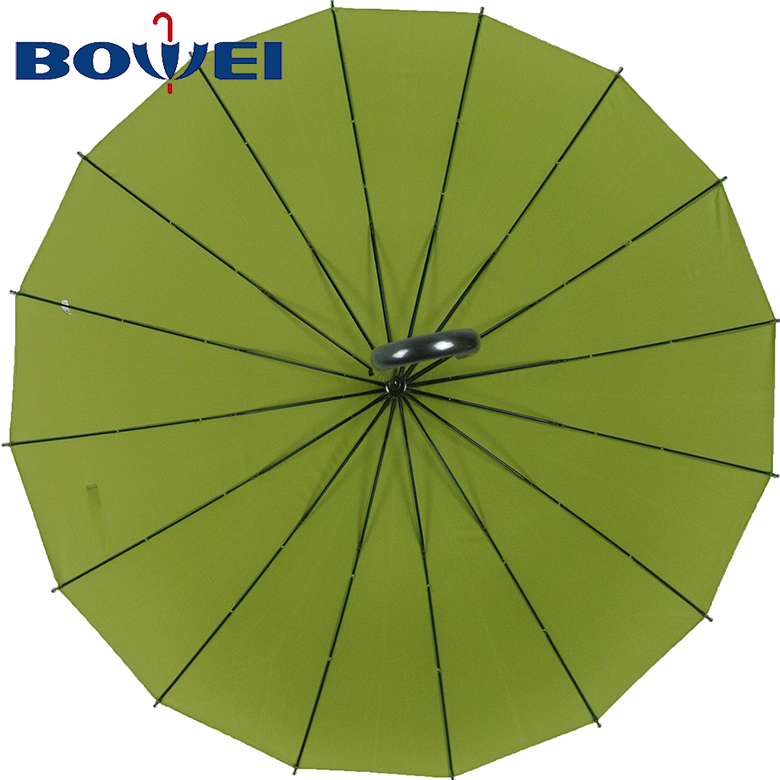 2020 trendy classic blue High quality promotional 16k automatic j handle straight umbrella wholesale