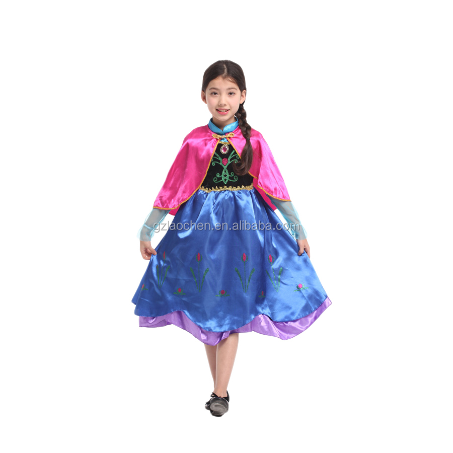 halloween girl dress of 9 years old frozen dress anna elsa costume