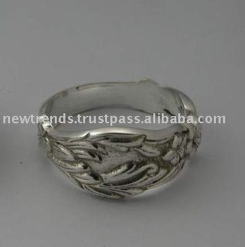 METAL NAPKIN RINGS SILVER PLATED BRASS