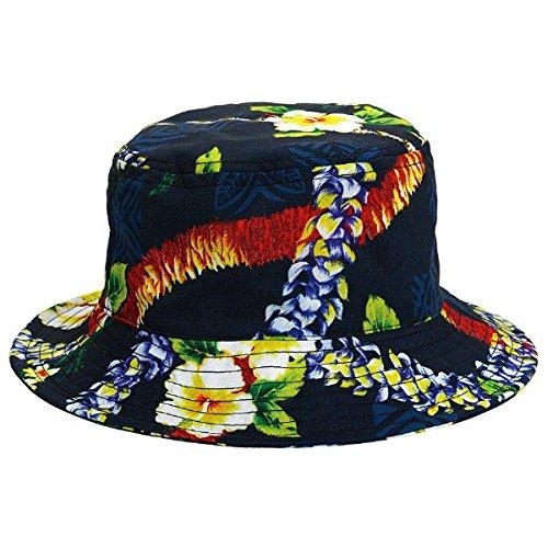 Get Quotations · Amscan Summer Hibiscus Prints Bucket Hat Hawaiian Luau  Costume Dress Up Party Men s Headwear e7c8eb2475ec