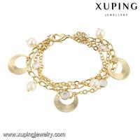 74653 fine jewelry china 14k gold plated women bracelets charms