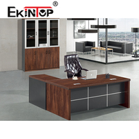Modern latest size photos new designs chairman cheap wooden boss executive office table in lecong office furniture supplier