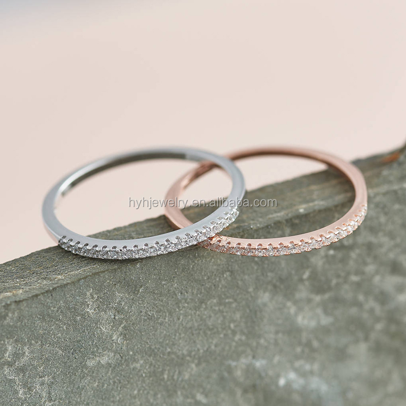 Cheap lady aaa zircon stacking rings cheap rose gold plated new design finger ring