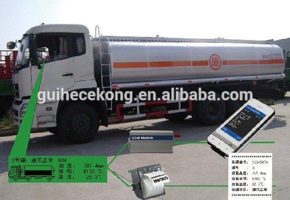 Tanker Truck Oil Level Meter Automatic Tank Gauge Truck