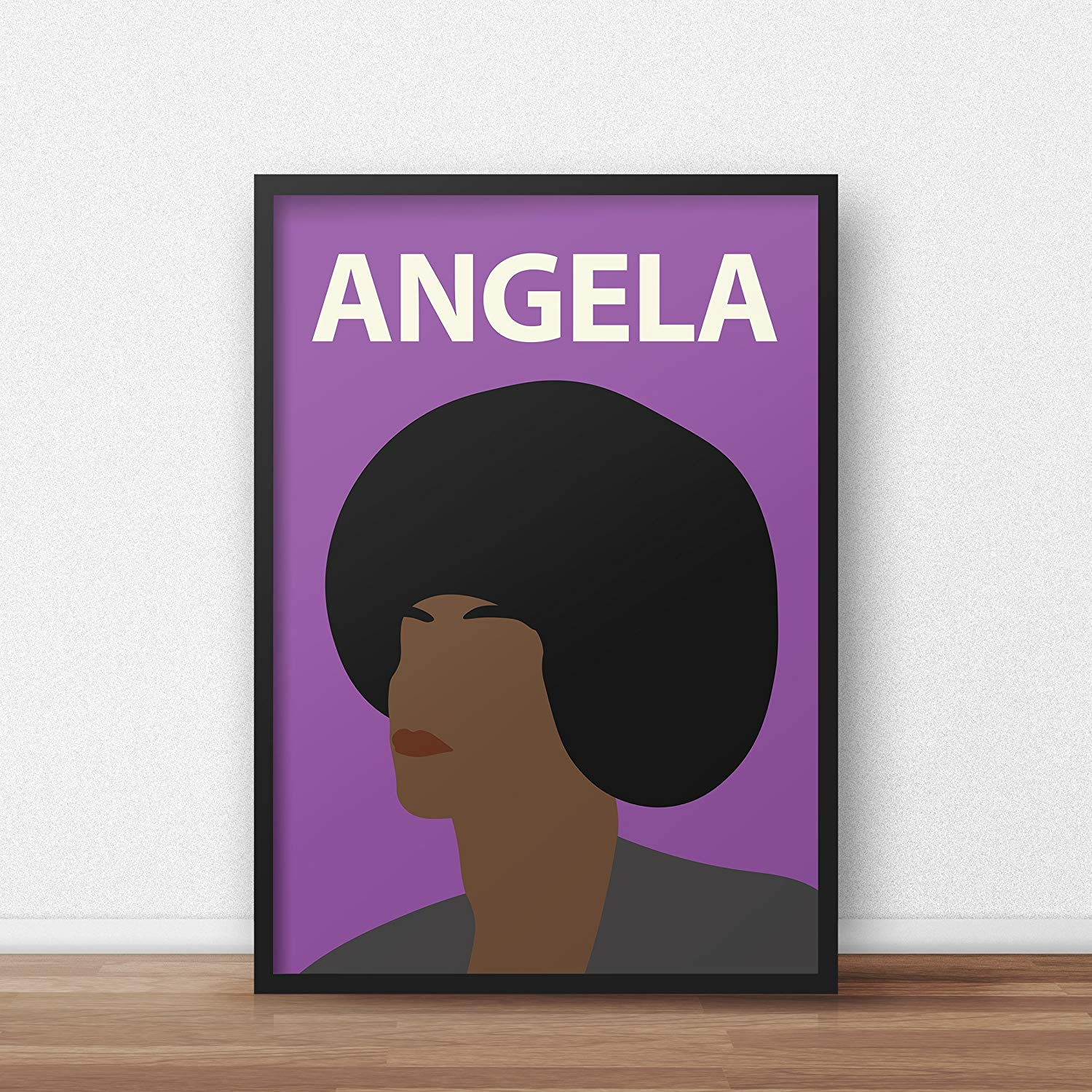 Angela Davis Poster Print // Wall Art - Portrait - Retro - Colourful - Minimalist - Civil Rights - Black Lives Matter - Inspirational - Black Panther