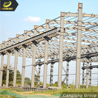 Welded frame export to colombia low cost beautiful structure in steel warehouse