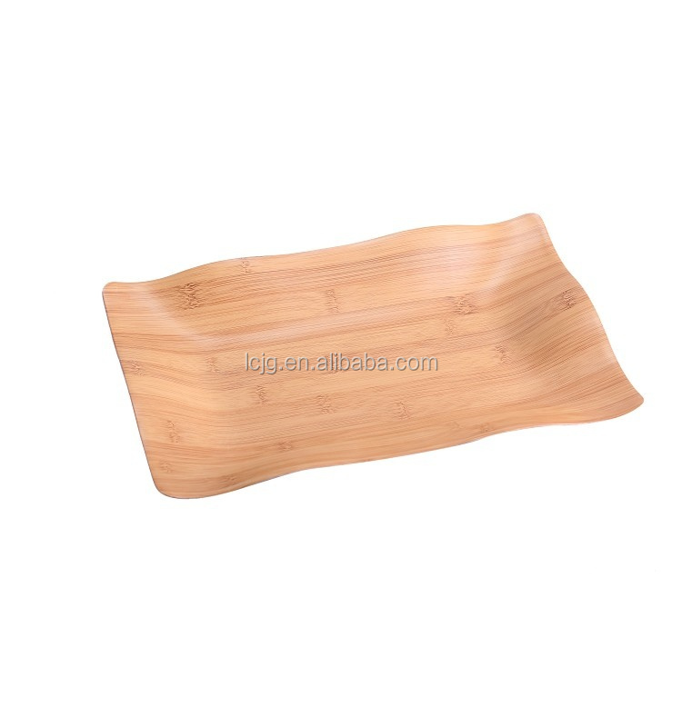 Non-Slip Wooden Curved Serving Tray for Promotional Gifts