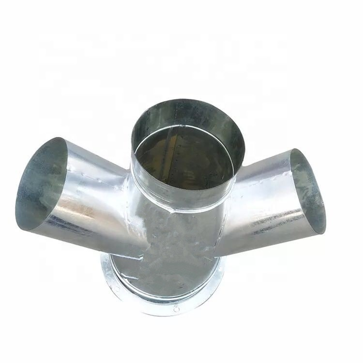 duct fitting Galvanized sheet Y branch Tee 3 way air duct fittings