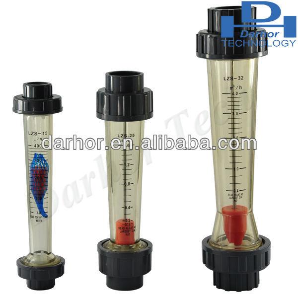 100-1000L//H 15 mm Conector de tuber/ías de pl/ástico Caudal/ímetro LZS-15 agua l/íquido medici/ón Caudal/ímetro 4/% precisi/ón