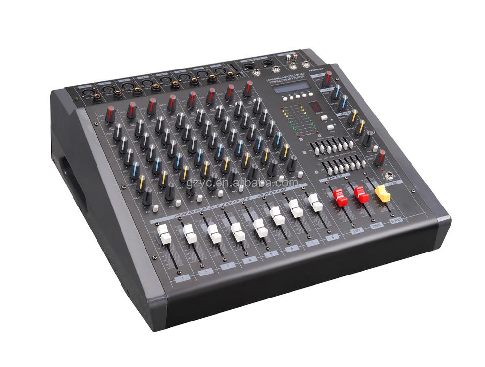 haute qualit 8 canaux puissance m langeur amplificateur avec usb avec pas cher prix pmx808d usb. Black Bedroom Furniture Sets. Home Design Ideas