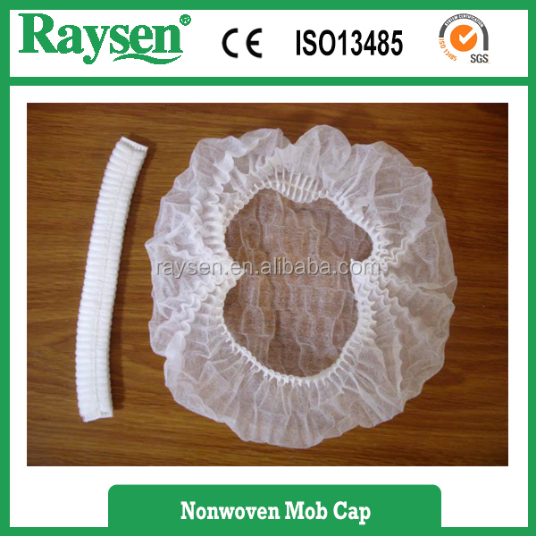 clip mob cap,disposable mop cap,disposable non woven mob cap
