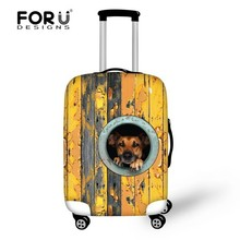 Spandex luggage suitcase covers elastic luggage cover printing cute animals