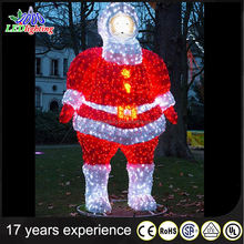 Outdoor Plastic back 2D Santa Merry Christmas silhouette(LED Rope)