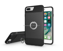 case for iphone 6 rotatable ring stand,pc tpu case for iPhone 7 plus