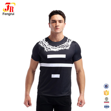 90% Polyester 10% Spandex Engen Workout T-shirt 3D Druck Sublimation <span class=keywords><strong>Männer</strong></span> Gym Bekleidung