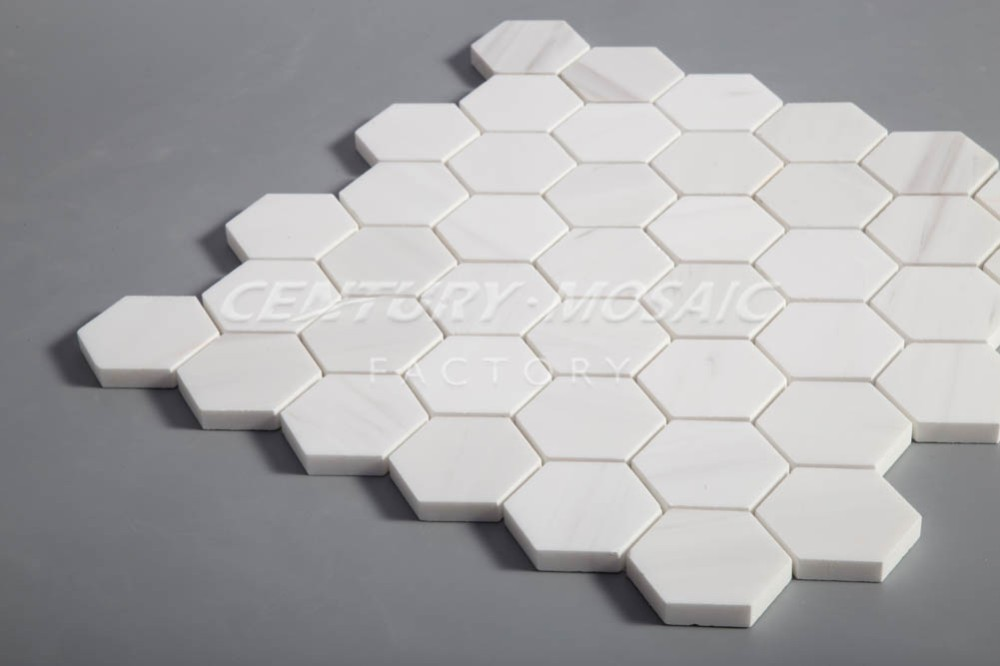 Hexagon Tegels Wit : Goedkope marmer hexagon mozaïek keuken backsplash tegel buy