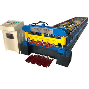 Factory Prices automatic colored steel high rib roof panel ibr tile roll forming machine